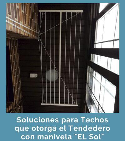 """Soluciones para Techos que ofrece el tendero con manivela """"El Sol"""""""